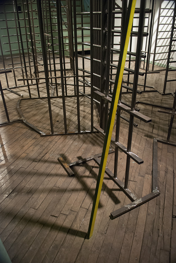 Turnstile (Entering and Exiting Bethlehem) 2008 steel, enamel paint dimensions variable