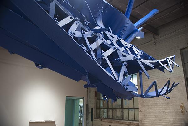 Collapse I 2009 styrofoam, enamel paint, steel 22' x 7' x 6'