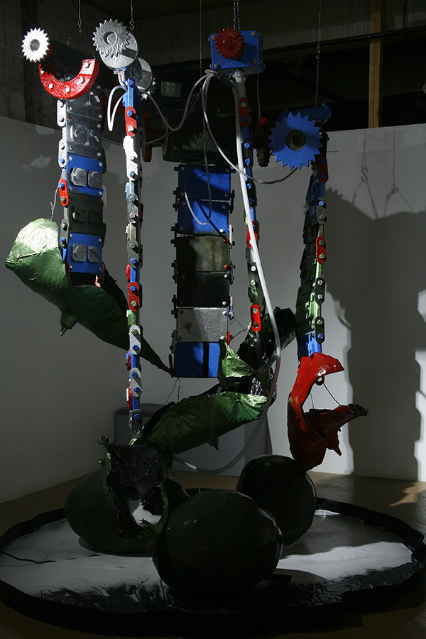 Waterfall 2006 fiberglass, enamel, pump, water, dimensions variable