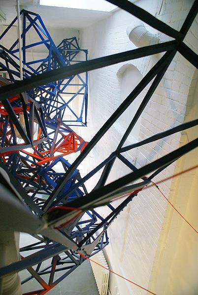 Suspended Landscape 2010 styrofoam, aircraft cable, enamel paint dimensions variable