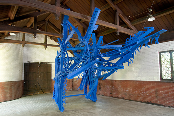 Collapse II 2009 steel, styrofoam, enamel paint 28' x 11' x 16'