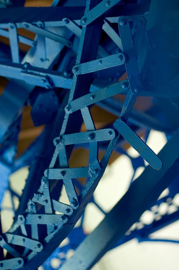 Collapse II 2009 steel, styrofoam, enamel paint 28' x 11' x 16'
