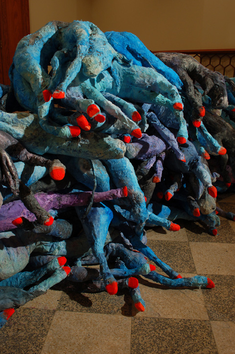 Barricade 2008 paper mache dimensions variable